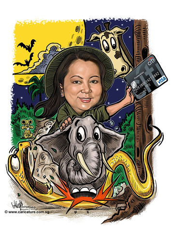 Safari caricature for Citibank