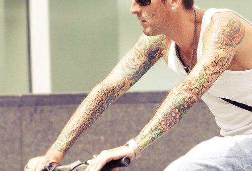 asian tattoos bike