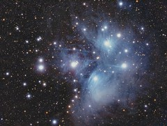 M45 Pleiades (The Seven Sisters) (Terry Hancock www.downunderobservatory.com) Tags: camera sky mountain night stars photography eos pier backyard open mark cluster shed images astro observatory telescope ii astrophotography m45 terry astronomy imaging canon5d hancock messier ccd universe instruments amateur cosmos celestron pleiades mkii osc astronomer teleskop astronomie byo deepsky astrofotografie mi250 canoneos5dmarkii astrophotographer Astrometrydotnet:status=solved Astrometrydotnet:version=14400 Astrometrydotnet:id=alpha20100999221405