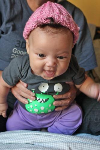 Baby Z in her Foolproof Baby Hat