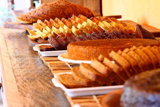 Detalhe dos pães