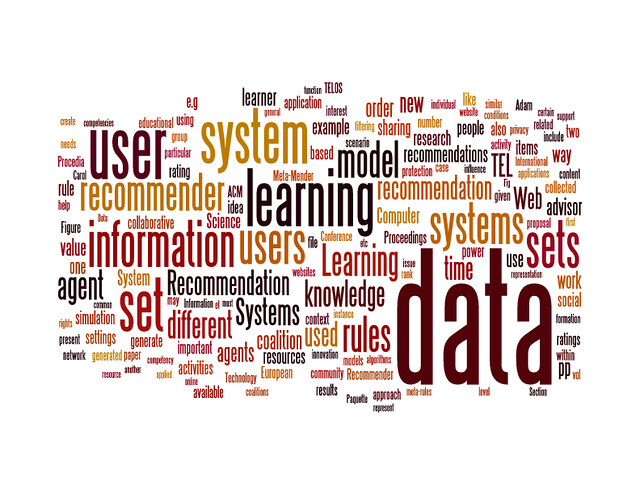 Wordcloud for RecSysTEL (day 1, session 3)