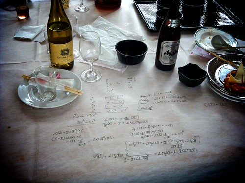 A mathematician's dinner still life