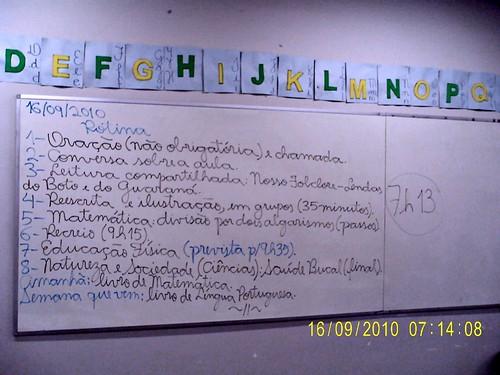 Rotina Prevista - 16/09/2010