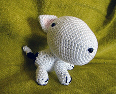 amigurumi bullterrier (perlinavichinga) Tags: dog cane crochet amigurumi bullterrier uncinetto jaravee