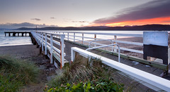 Seatoun Wharf 2 (buddythunder) Tags: newzealand beach sunrise dawn jetty wharf wellington seatoun leadin flickraward