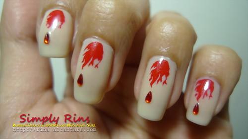 Nail Art Vampire Diaries 02
