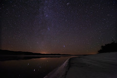 Reflecting on the Andromeda Galaxy (Fort Photo) Tags: longexposure lake reflection night skyscape stars landscape star reflecting nikon nebraska nightscape ne andromeda galaxy astrophotography m45 m31 astronomy sevensisters pleiades 2010 darksky milkyway starscape widefield starcluster d700 Astrometrydotnet:status=failed tokina1116 messierobject45 Astrometrydotnet:id=alpha20100975961376