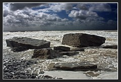 Stormy Seas at Dunraven Bay (Martyn.Smith.) Tags: seascape storm beach water southwales clouds canon landscape eos photo seaside rocks flickr sandy tide cymru windy pebbles gale spray coastal beaches welsh stormclouds ogmore ogwr southerndown traeth dunraven 450d welshcoastline platinumheartaward mygearandmepremium mygearandmebronze mygearandmesilver