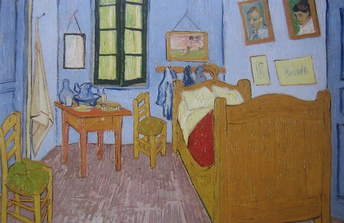 Van Gogh's Bedroom at Arles (detail), Vincent van Gogh, 1889, Musée d'Orsay, De Young Museum, San Francisco