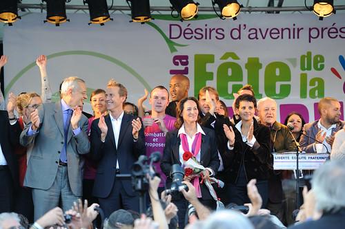 Ségolène Royal et son équipe le 18 septembre 2010 à Arcueil