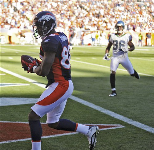 Broncos WR Demaryius Thomas hauls in his first career TD