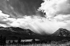 20100905-DSC01555-Edit-BW.jpg (jd_hiker) Tags: usa mountains blackwhite montana places glaciernationalpark nationalparks treatment twomedicine risingwolfmountain