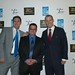 """TJ Walker, mark Goldman and Ryan McCormick at book signing party for """"How to Give a Pretty Good Presentation"""""""