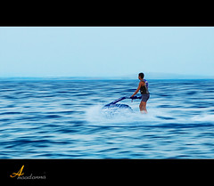 High speed ~ Panning [ Explore ] (ANOODONNA) Tags: blue sea water explore panning jetski canonef2470mmf28lusm highspeed  canoneos50d  anoodonna  alanoodalrasheed