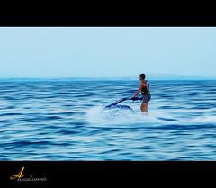 High speed ~ Panning [ Explore ] (ANOODONNA) Tags: blue sea water explore panning jetski canonef2470mmf28lusm highspeed بحر canoneos50d تطويق anoodonna العنودالرشيد alanoodalrasheed