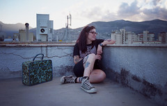 (VideoLovE) Tags: roof color rooftop girl shirt zeiss 35mm t star glasses all kodak joy super tattoos converse 200 carl unknown epson v600 division yashica pulsar perfection fx7 distagon pleasures fx3