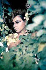 In the Woods (Marios Tziortzis) Tags: wood trees woman sexy green girl canon person rebel leaf model cyprus elena leafs 550 yn 460 nicosia lefkosia 550d strobist t2i kipros strobistcy strobistincyprus