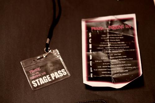 Stage pass & schedule