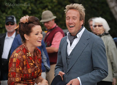 Ben & Natalie - 2010 Goodwood Revival (1189) (malcolm bull) Tags: uk england race sussex costume tv dress westsussex meeting september laugh period laughting goodwood include 2010 presenter revival benfogle nataliepinkham 20100919revival1189edited1web