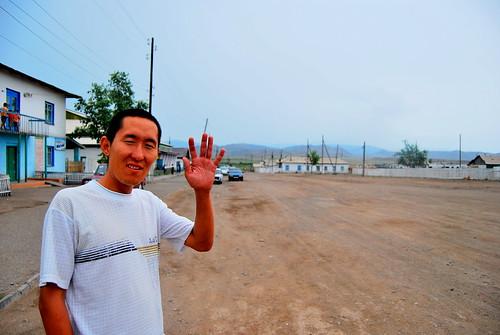 Goodbye Tavazhap! in Khandagaity, Tuva, Siberia, Russia