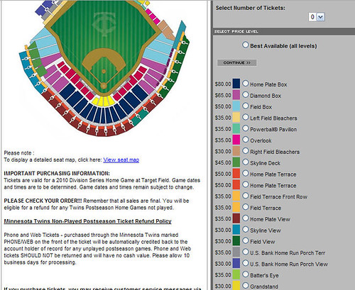 twins target field seating chart. 2010 twins target field