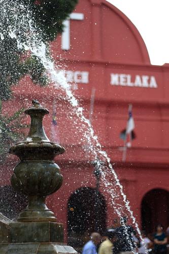 Fountain at Christ Church, Melaka Malaysia