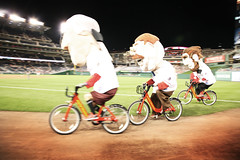Nationals Racing Presidents on Bicycles