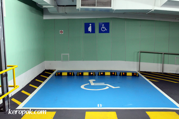Car Park Space for Disabled and Pregnant Mums
