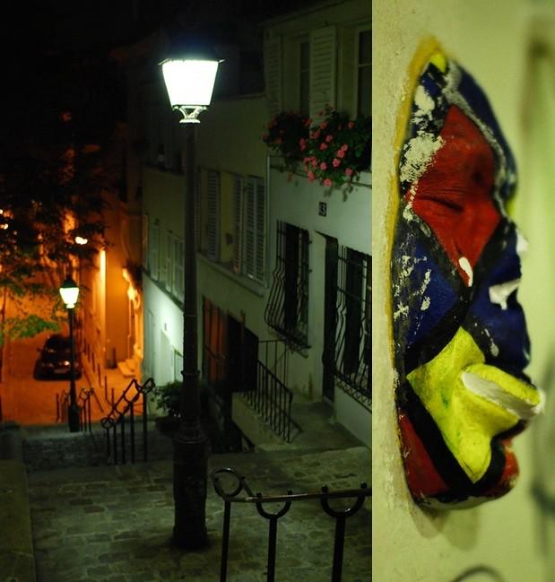 Rue André-Antoine - Masque de Gregos Passage des Abbesses