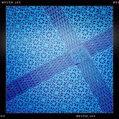 Blue 2 (Jan Ronald Crans) Tags: blue apple ferry blauw cross floor plastic vloer veerboot iphone kruis hipstamatic