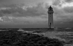 lighthouse B&W (DSLR Lee) Tags: mersey merseyside rivermersey thewirral