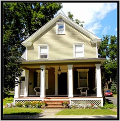 Scottsville NY ~ Historic District (Onasill ~ Bill Badzo) Tags: county street new wood york ny home architecture greek j district main style historic rochester cobblestone h funeral cameron frame monroe restored township preservation wheatland revival scottsville nrhp