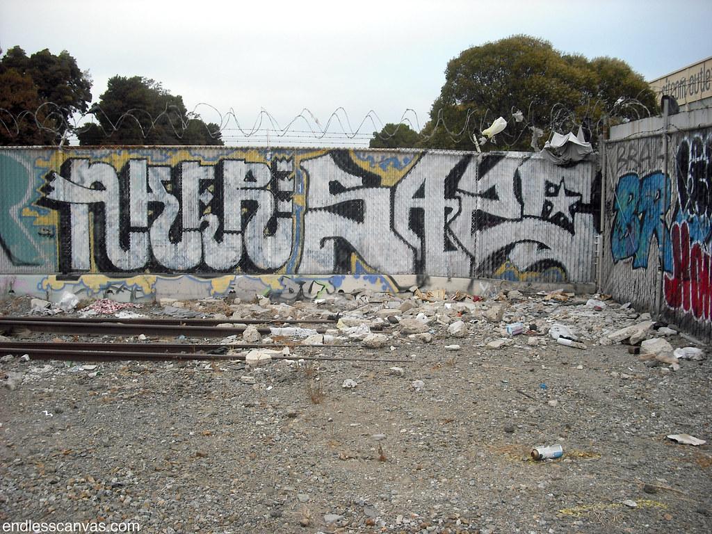 AKER, SAZE graffiti - Oakland, Ca
