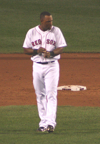 Beltre between innings