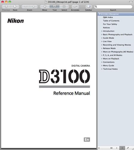 nikon d3100 manual pdf now available for download rh dpnotes com Nikon D3100 Manual Downloadable Manual Mode Nikon D3100