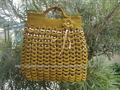 bolsa de lacres 009 (Cassilha,Angela) Tags: crochet bolsa reciclagem aluminio croche recicle lacres artesnato