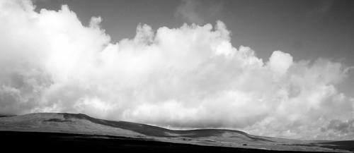 Clouds Barrelling Over Ingleborough