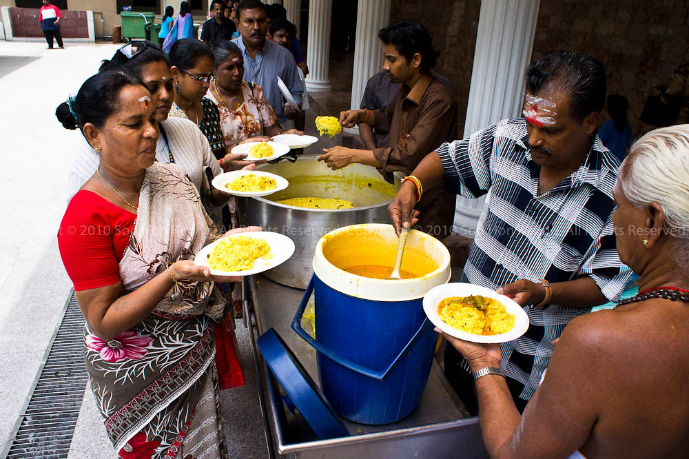 Food @ Sri Maha Mariamman Temple Dhevasthanam, KL, Malaysia
