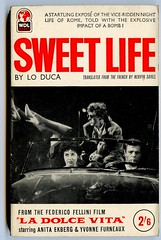 sweet life (unexpectedtales) Tags: old fiction italy rome art film illustration work vintage paper book artwork books lo paperback pulp backs fellini federico paperbacks sleaze duca
