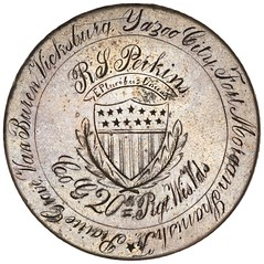 20th Wisconsin Volunteers Peso Medal obverse