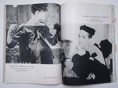 Christian Dior-Jacques Fath (Classic Style of Fashion (Third)) Tags: 1955 1950s dior 1950sfashion vintagefashion vintagemagazine frenchvogue jacquesfath