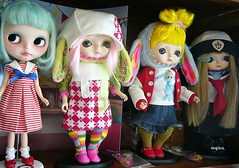 My blythe and toffee dolls