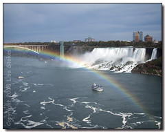 The Rainbow Bridge (Lisa-S) Tags: bridge blue sky ontario canada water 1932 river niagarafalls boat lisas falls maidofthemist bridalveilfalls rainbowbridge americanfalls invited 50d platinumphoto diamondclassphotographer flickrdiamond theunforgettablepictures unforgettablepicture copyright2010lisastokes gappool gettyimagescanada getty2011 getty20110624