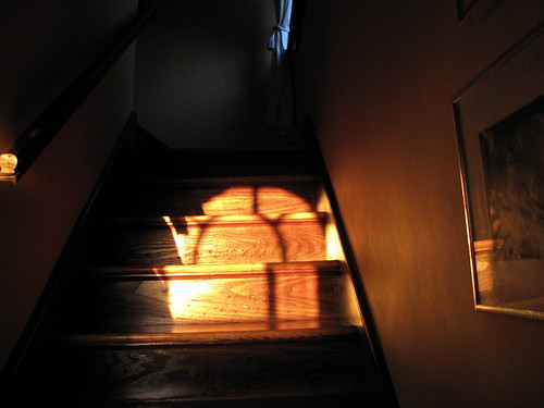 stairs at sunset