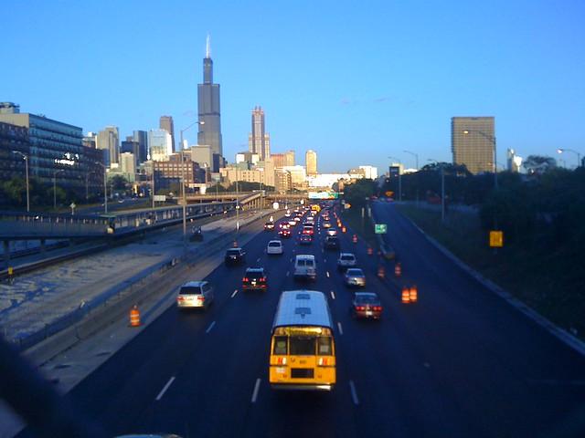 Chicago Skyline From I-290