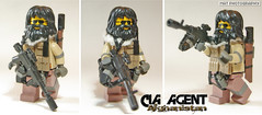 CIA AGENT AK Suppressed (Shobrick) Tags: sun afghanistan scarf radio beard glasses lego drum scope cia tan ak double agent tt vest machete custom grenade mag weapons 47 holster launcher foregrip brickarms shobrick tinytactical