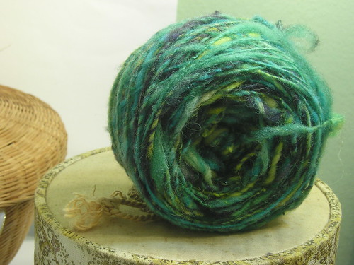 Handspun yarn, waiting to become Buttonhead