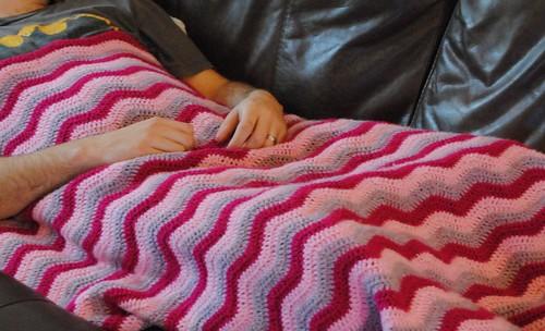 Pink ripple blanket