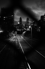 This way (mheidelberger2000) Tags: nyc newyorkcity light sky urban blackandwhite skyline night clouds track guesswherenyc tracks tunnel queens transportation hunterspoint nycguessed l empirestatebuilding lirr longislandrailroad ortonprocess stujoguessed